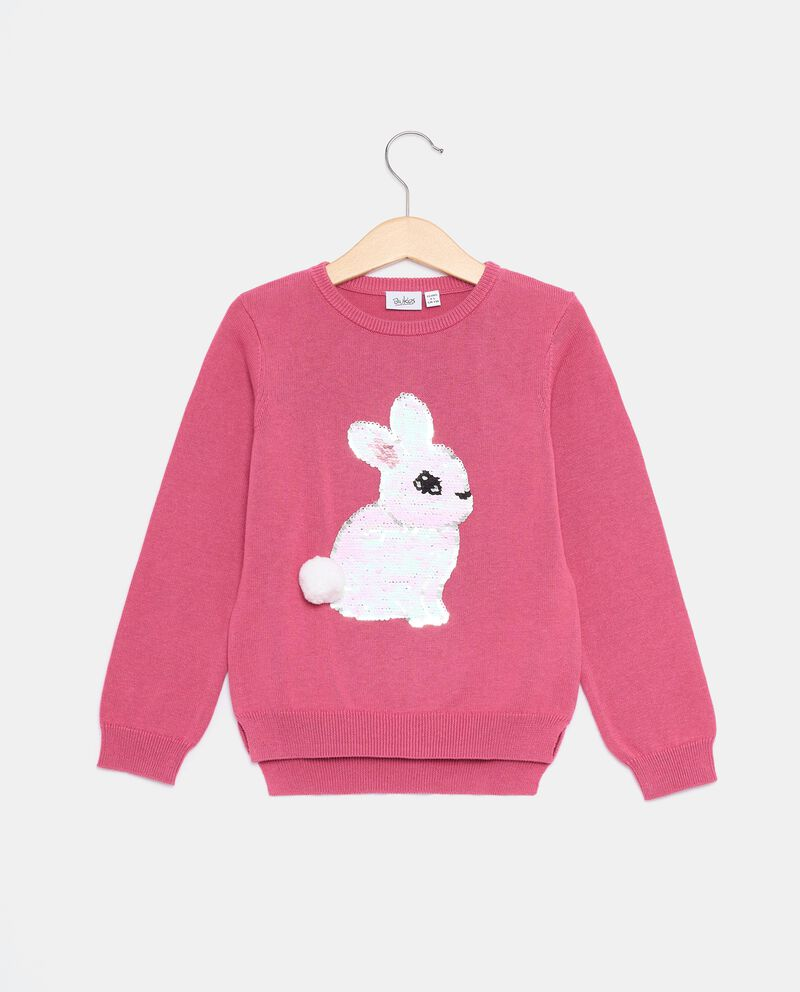 Pullover tricot con paillettes bambina cover