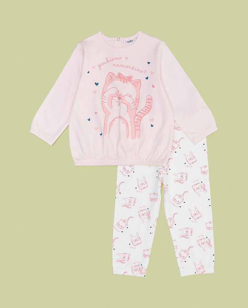 Set pigiama in puro cotone con maglia e pantaloni neonata