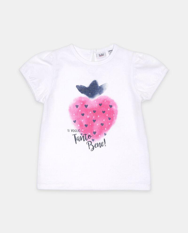 T-shirt stampa di cotone organico neonata