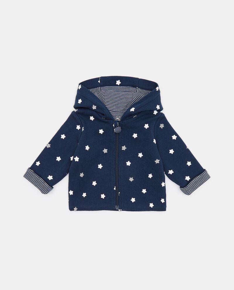 Cardigan con fantasia stelle in cotone organico neonato cover