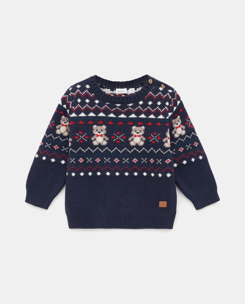 Girocollo tricot jacquard neonato cover
