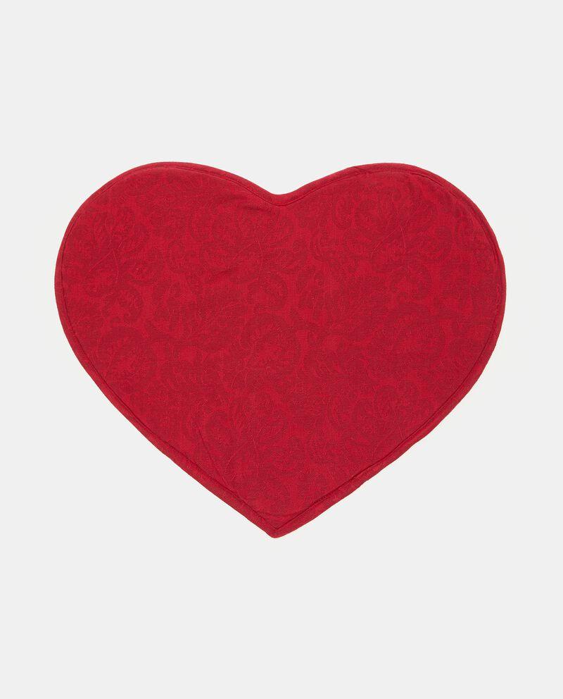 Tovaglietta jacquard a forma di cuore