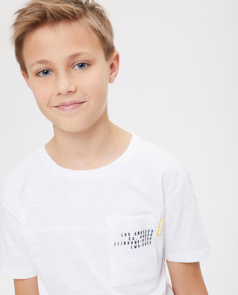T-shirt puro cotone con taschino