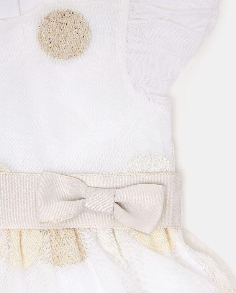 Vestito a maniche corte con motivo a pois neonata