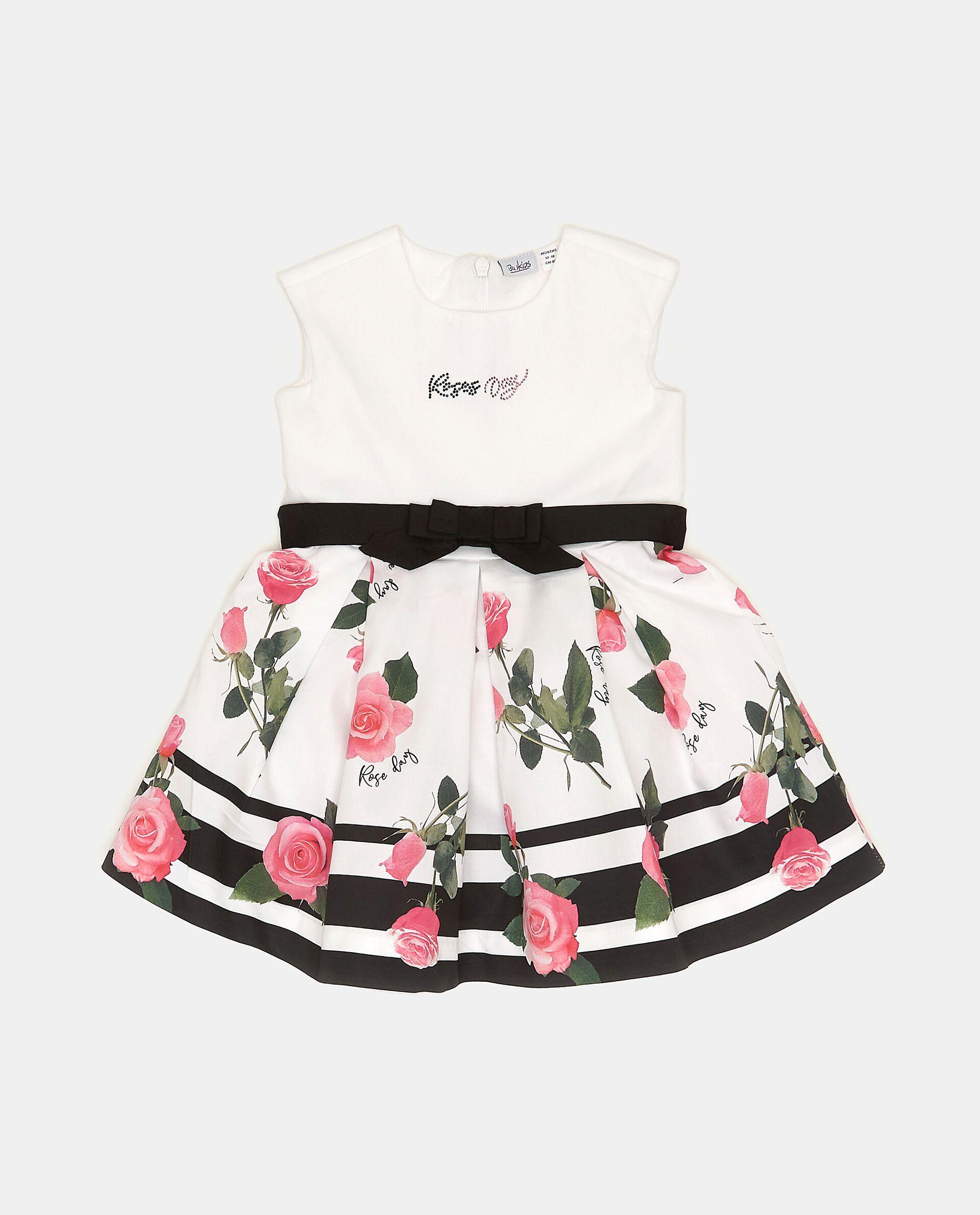 Vestitino in cotone con fantasia floreale neonata