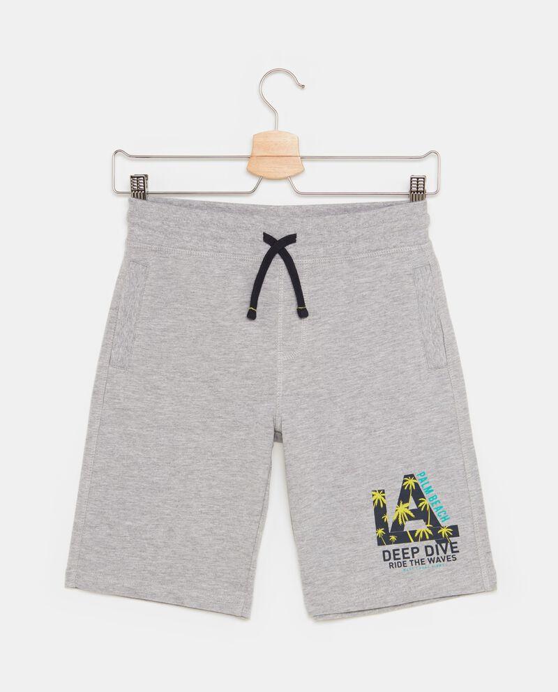 Shorts in cotone misto viscosa con tasche ragazzo