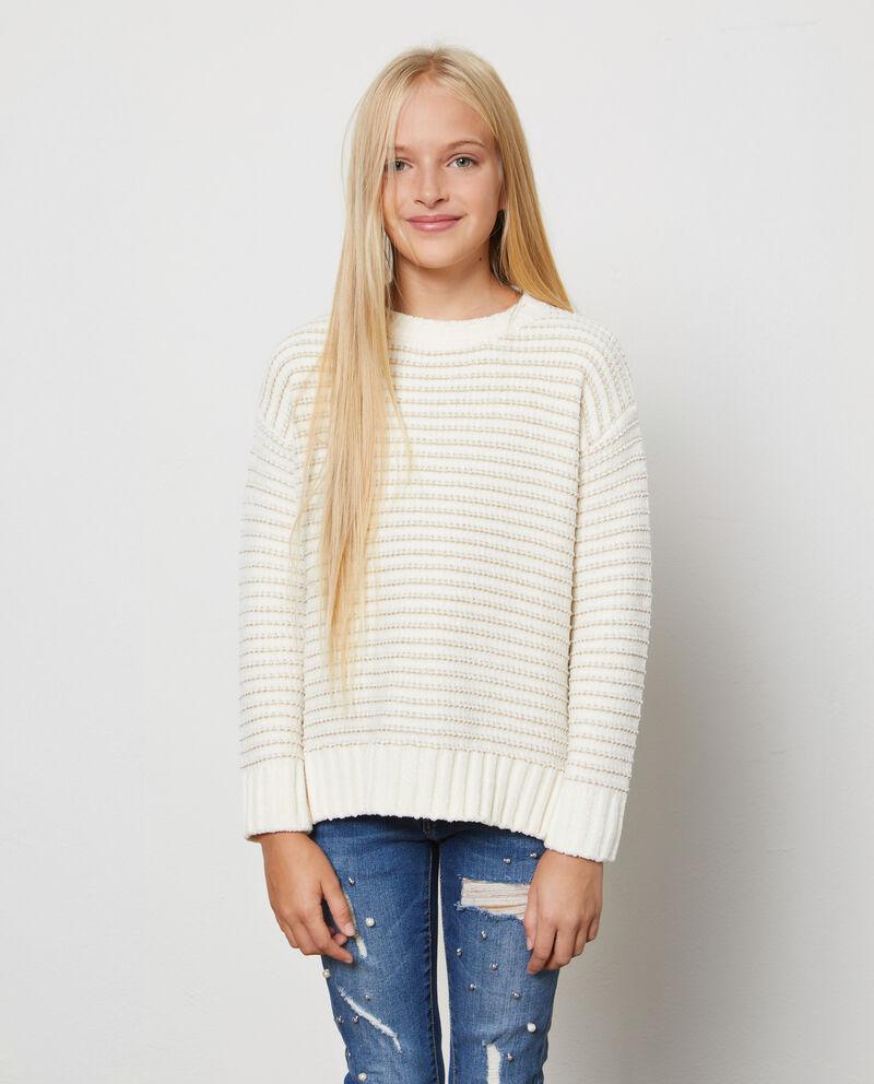 Pullover tricot con lurex