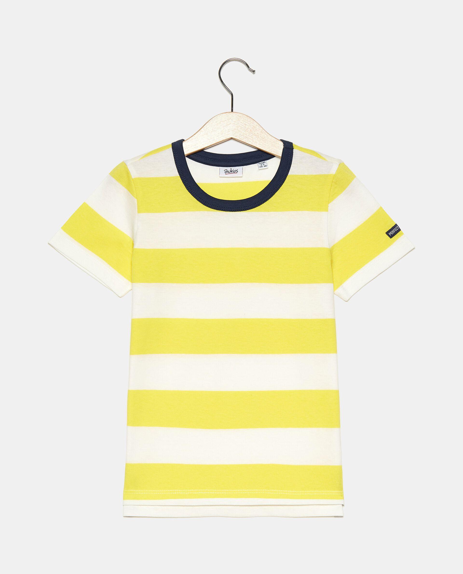 T-shirt rigata tinto filo in cotone organico jersey bambino