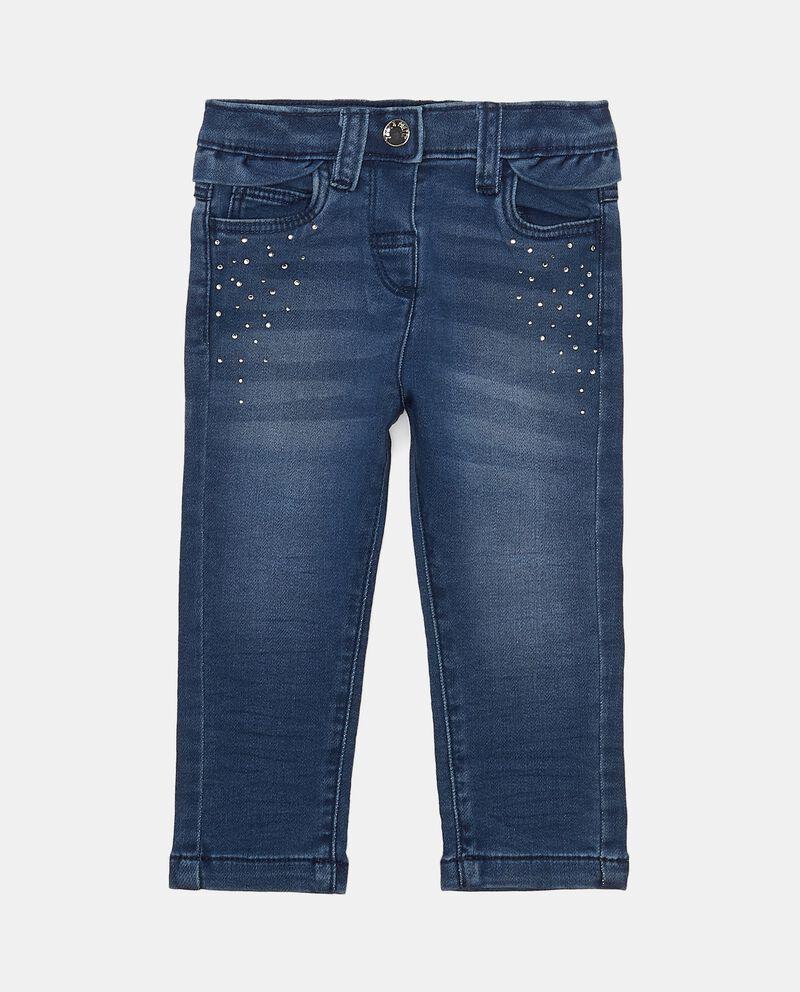 Jeans elasticizzati con strass