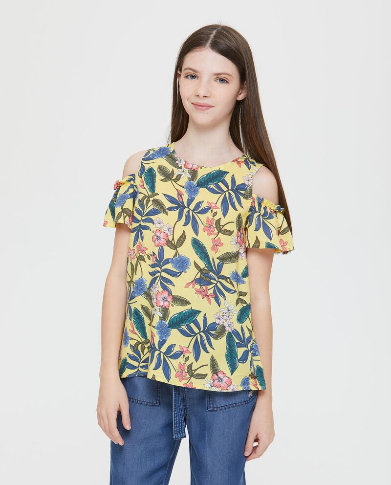 T-Shirt maniche corte volant