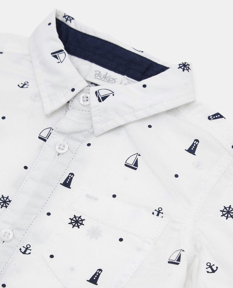 Camicia in cotone stampata neonato