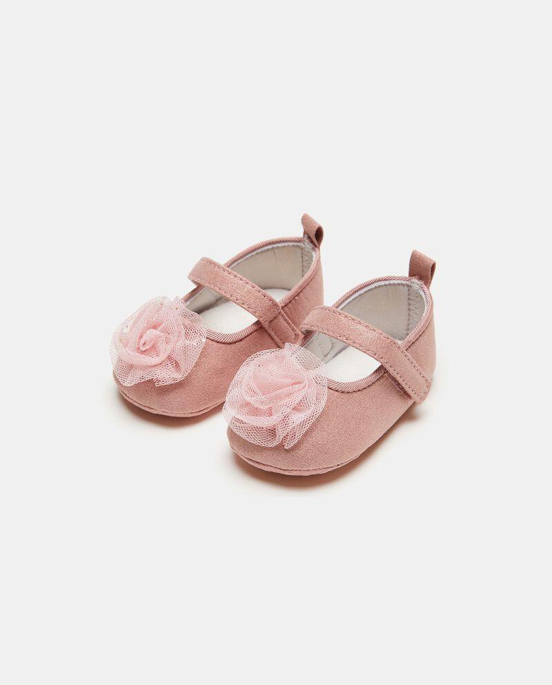 Sandalo con fiore in tulle neonata cover