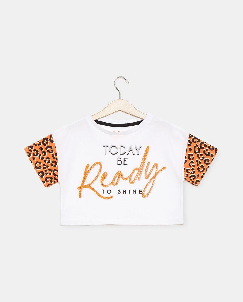 T-shirt in cotone organico jersey stretch ragazza cover