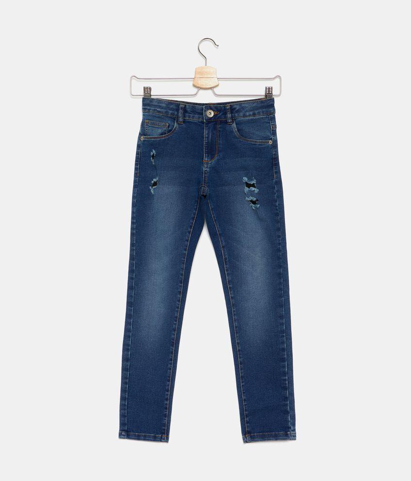 Jeans strappi cinque tasche ragazza