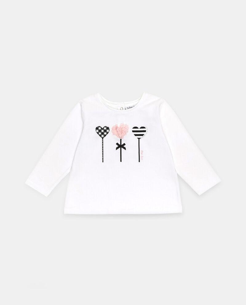 T-shirt di cotone organico stretch neonata