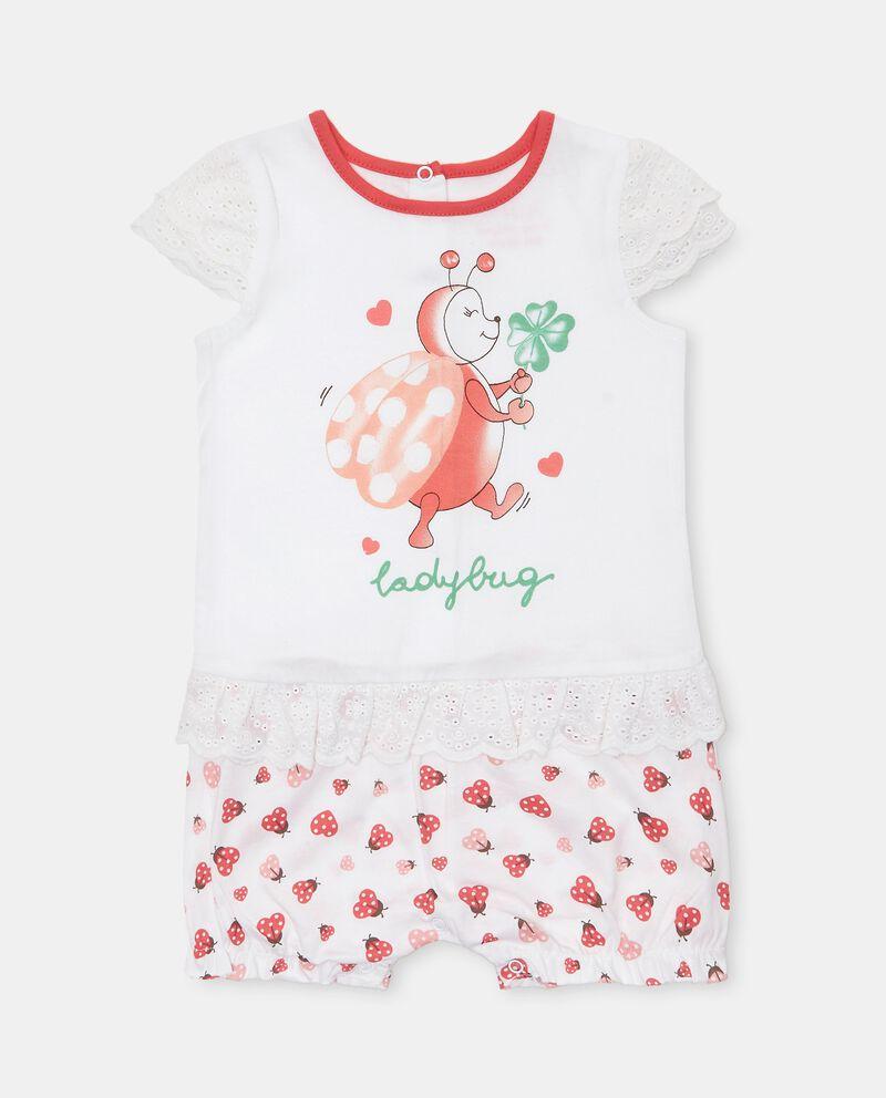 Tutina pigiama in cotone jersey neonata