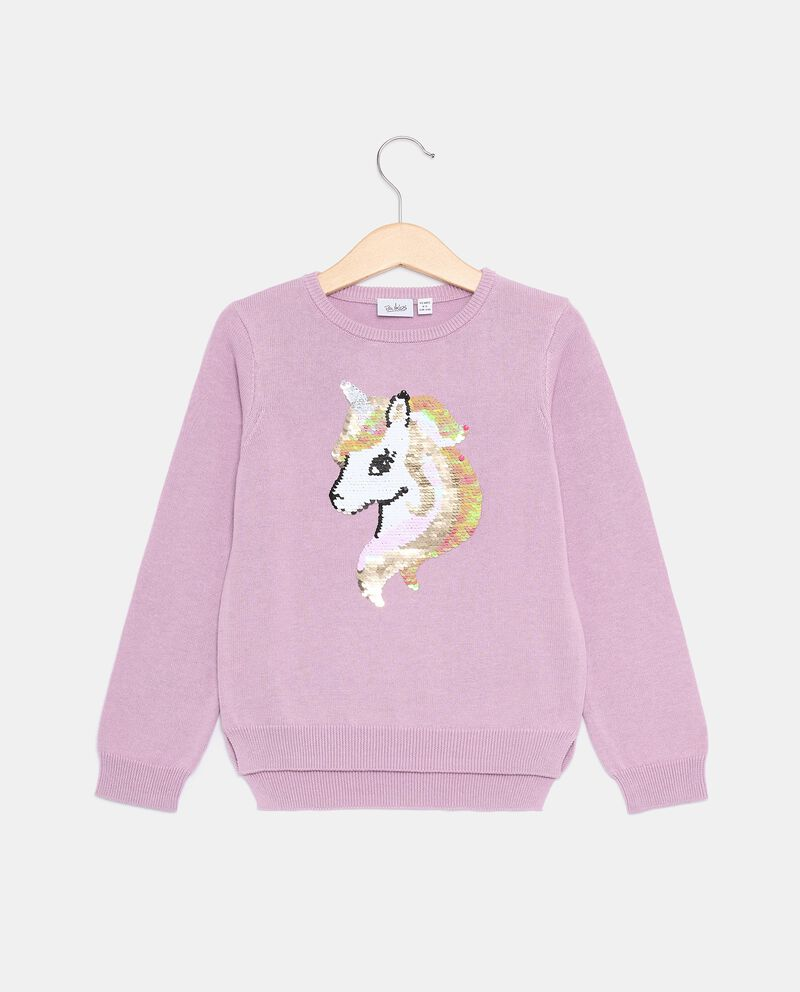 Pullover tricot con unicorno bambina cover