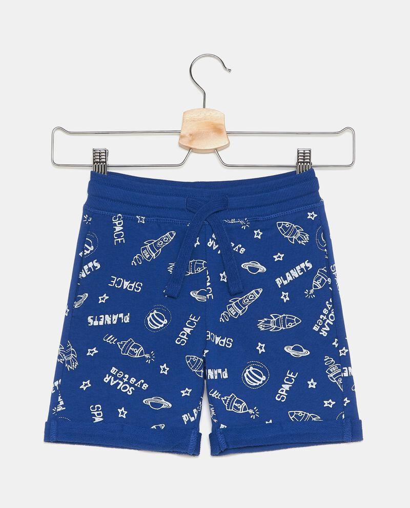 Shorts in puro cotone con fantasia