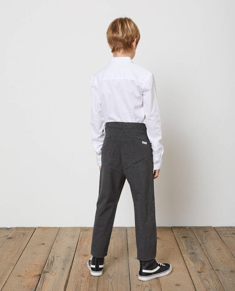 Pantaloni stretch a quadri