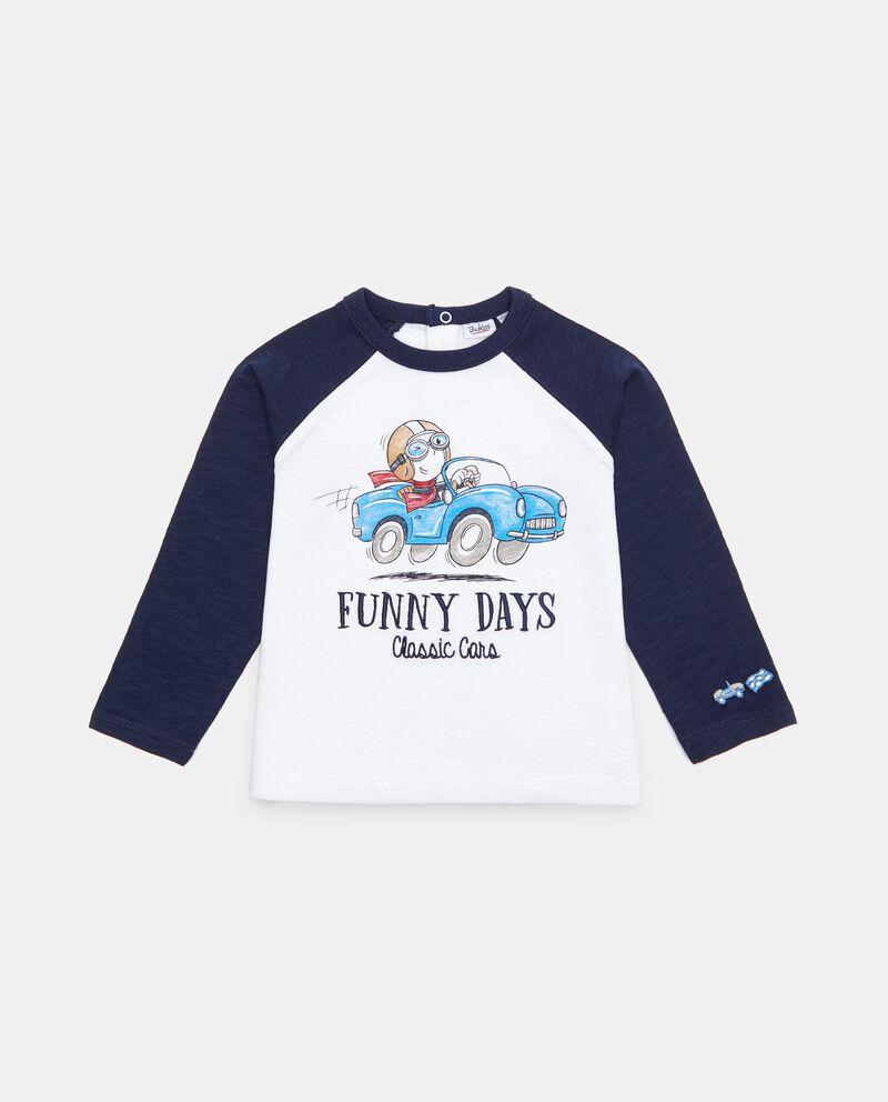 T-shirt manica raglan in cotone organico neonato cover