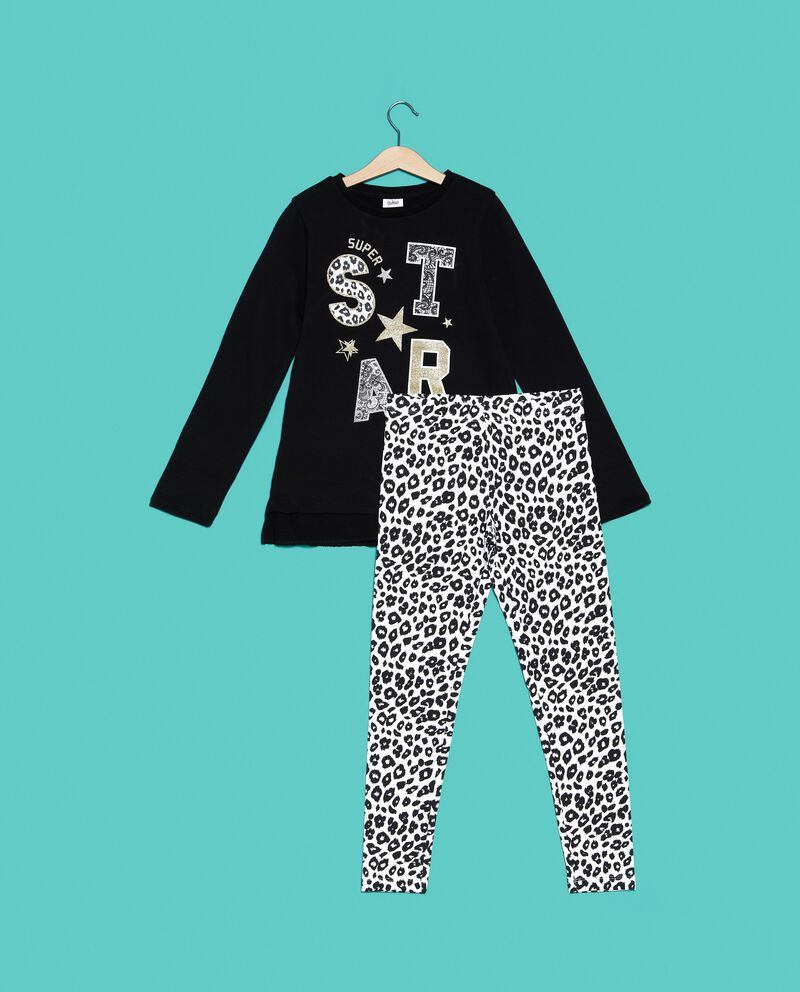 Set t-shirt e leggings animalier ragazza