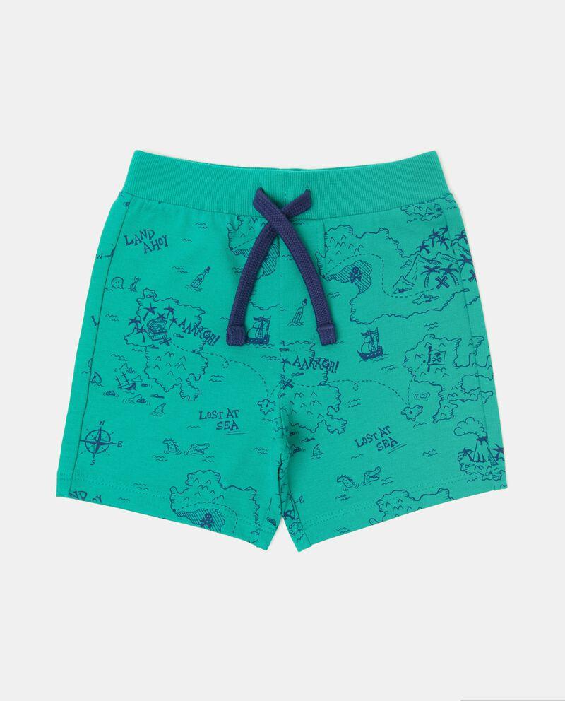 Shorts in puro cotone con fantasia neonato