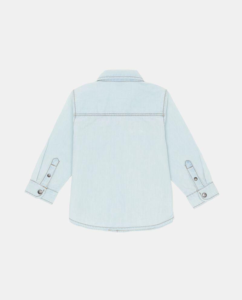 Camicia effetto denim con tasche