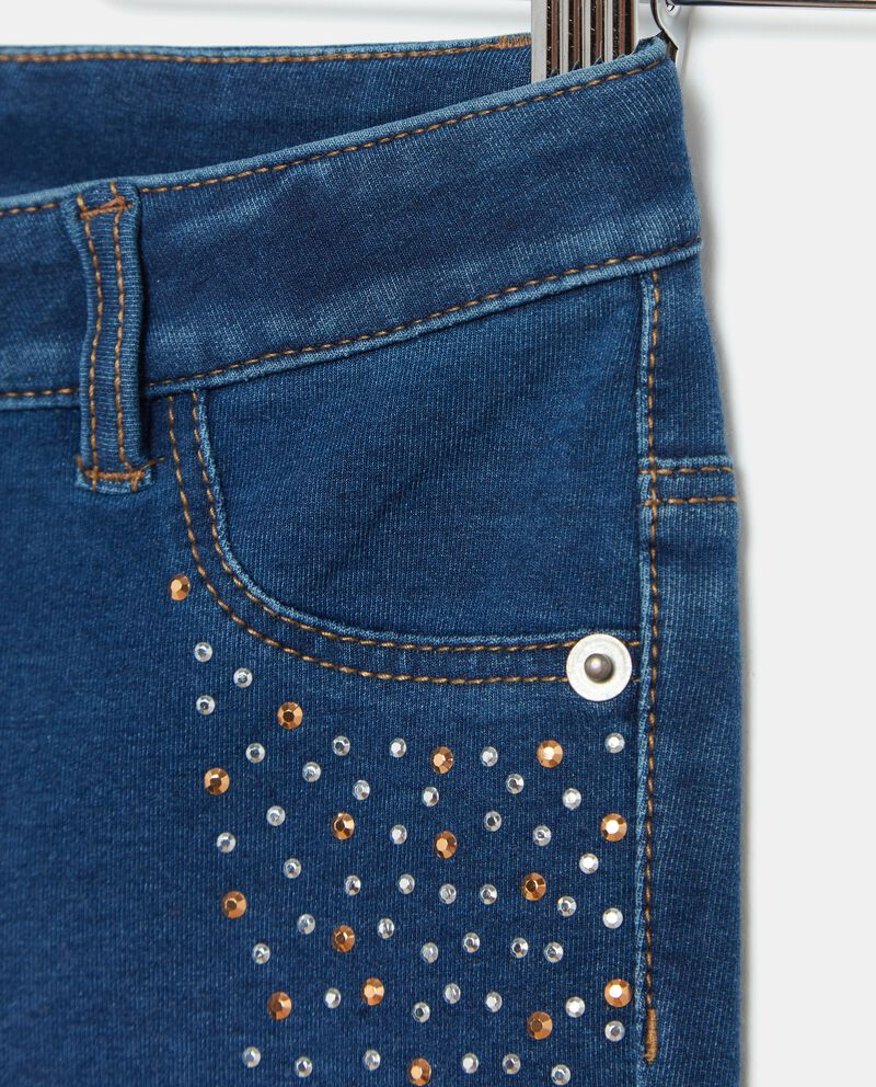 Jeans strass bambina