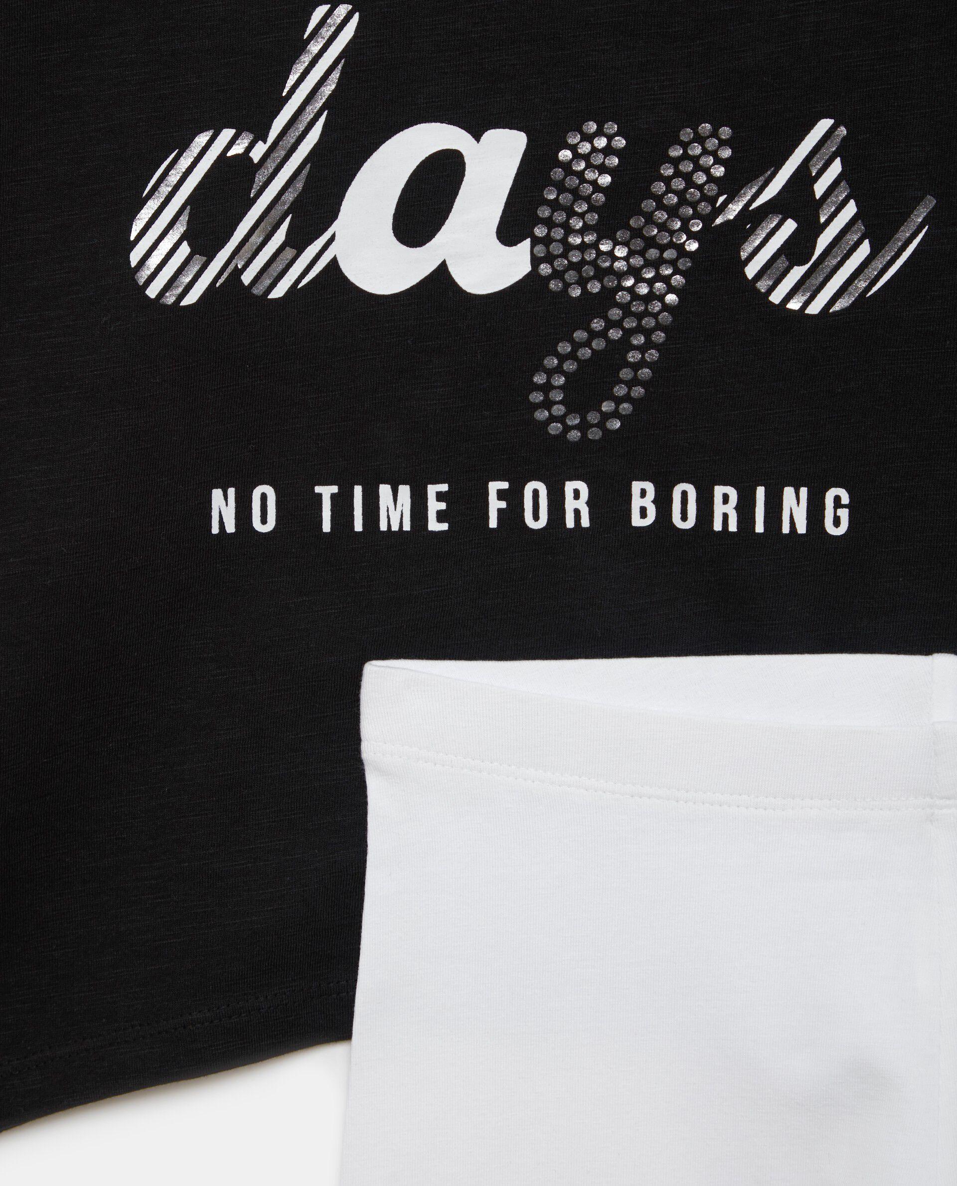 Set t-shirt strass e leggings ragazza