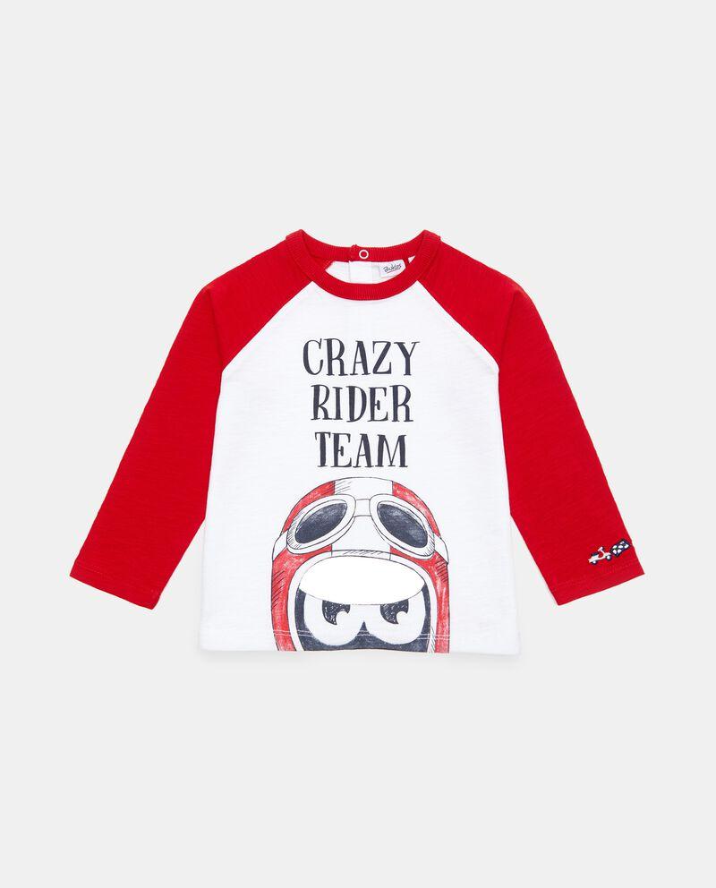 T-shirt in cotone organico con manica raglan neonato