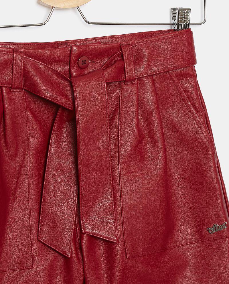 Shorts in eco pelle ragazza single tile 1