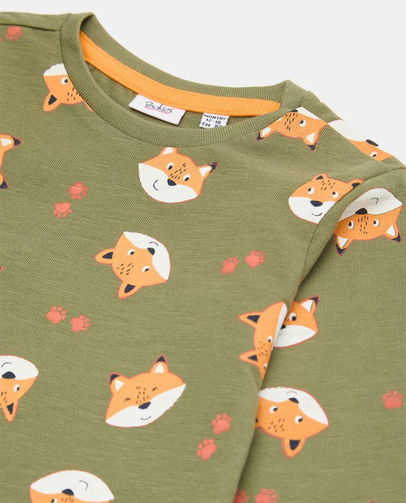 T-shirt di cotone organico con stampa all over neonatodouble bordered 1
