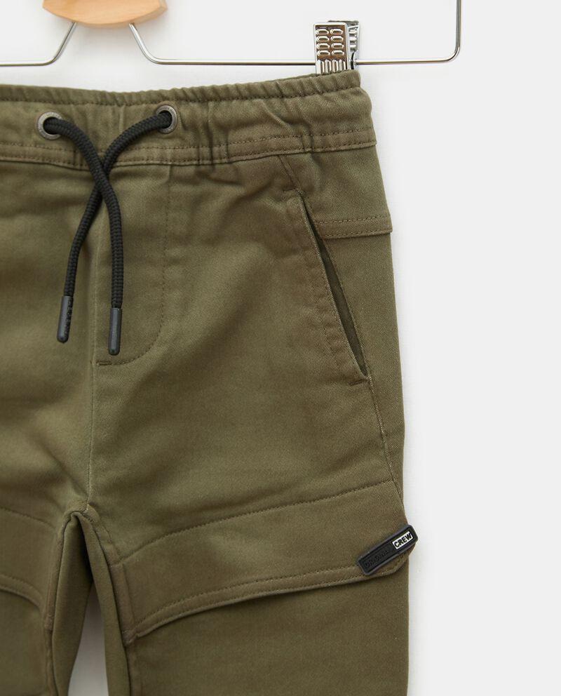 Pantaloni cargo in cotone elasticizzato bambino single tile 1