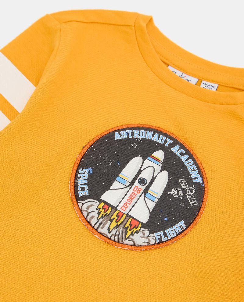 T-shirt di cotone organico neonato single tile 1