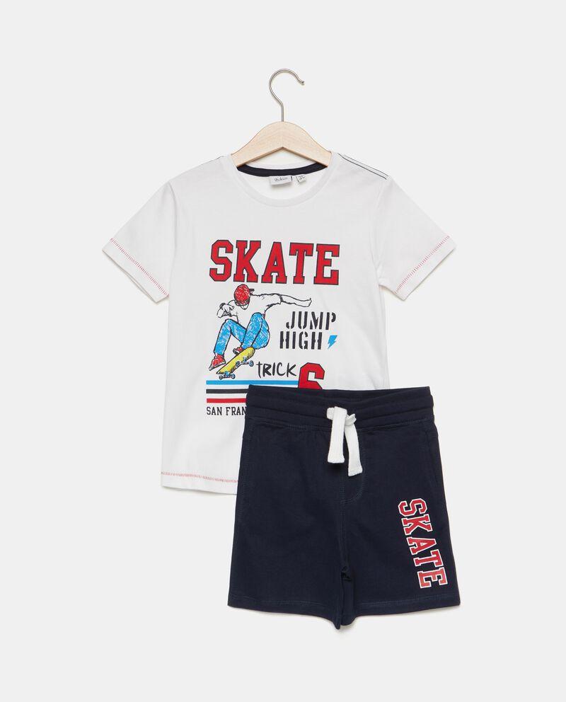 Set t-shirt e bermuda puro cotone bambino