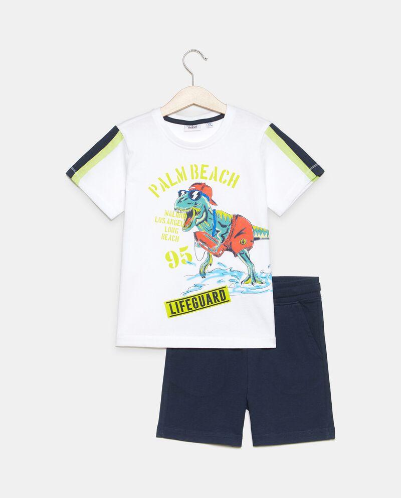 Jogging set stampato di cotone organico jersey bambino