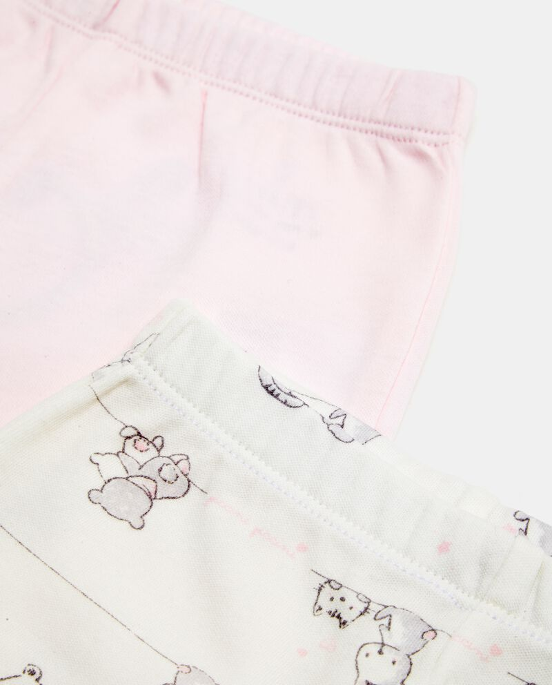 Set pantaloni fantasia e tinta unita