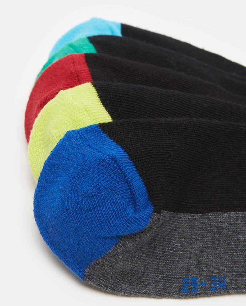 Set cinque paia calze multicolor