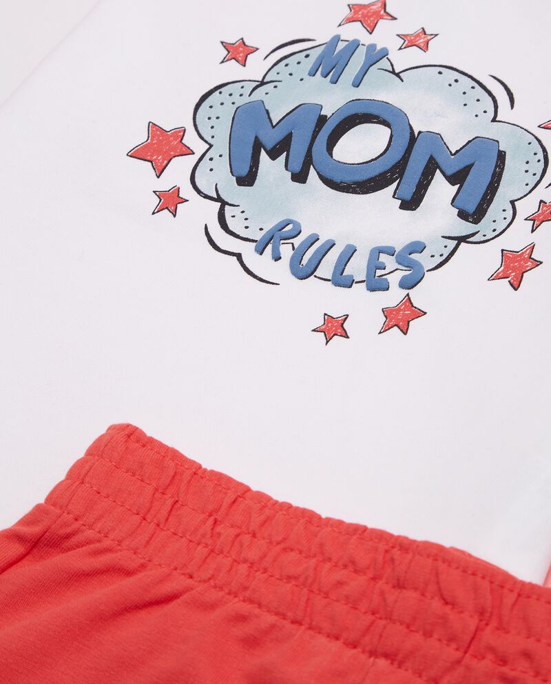 Set con maglia e pantaloni di puro cotone biologico neonato