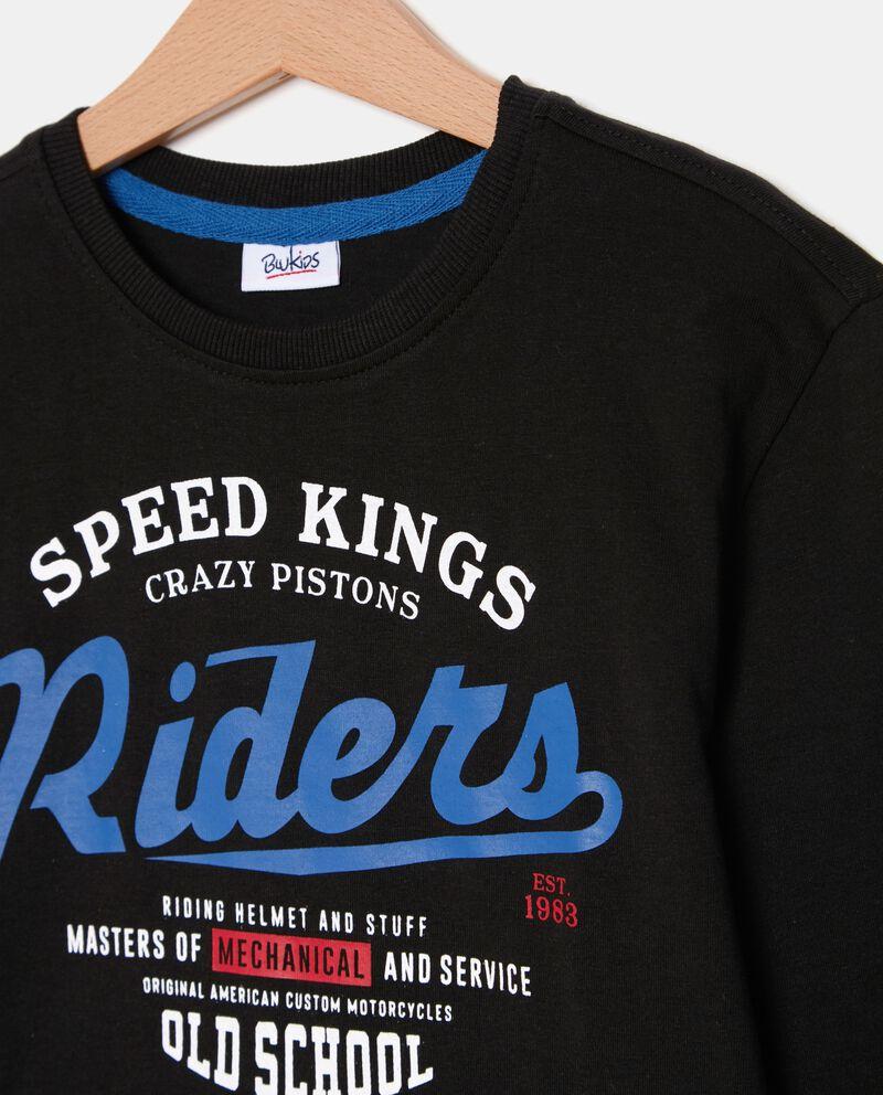 T-shirt con lettering a maniche lunghe ragazzo