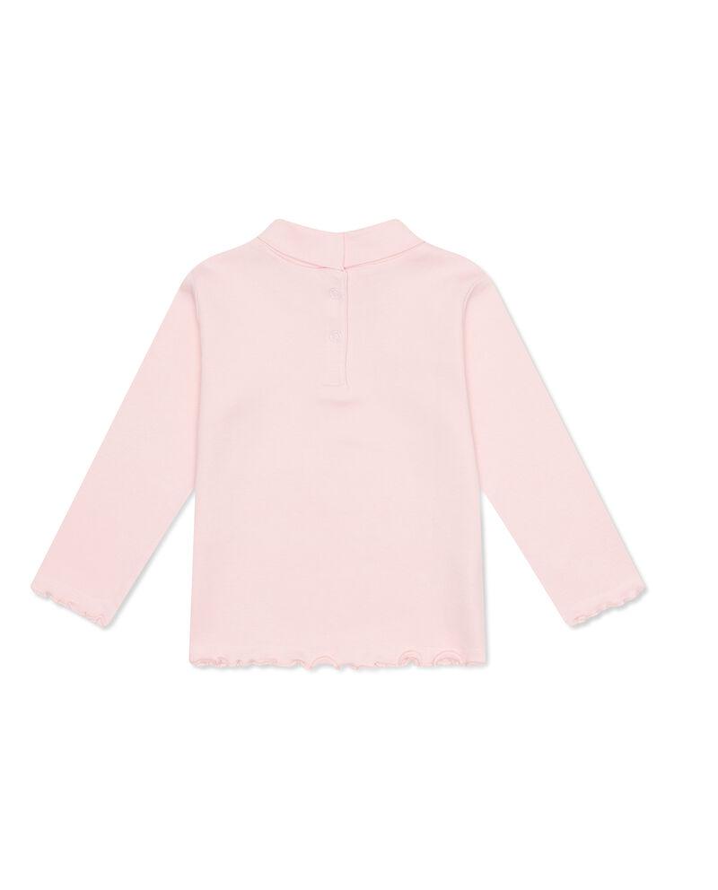 T-shirt cotone collo alto bordi ondulati