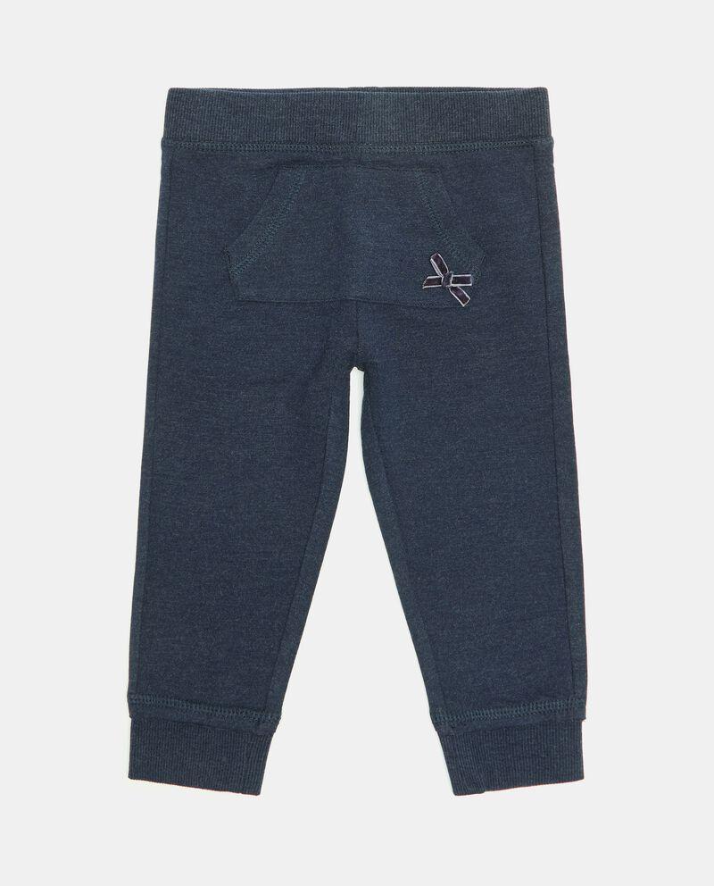 Pantaloni con tasca in cotone organico neonata cover