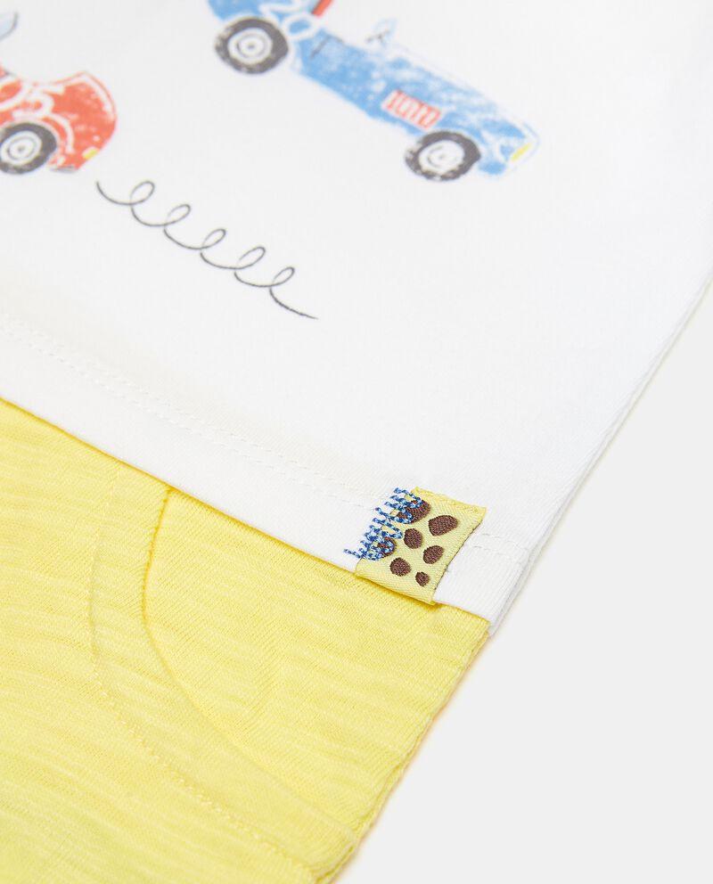 Tutina a maniche corte in puro cotone single tile 1