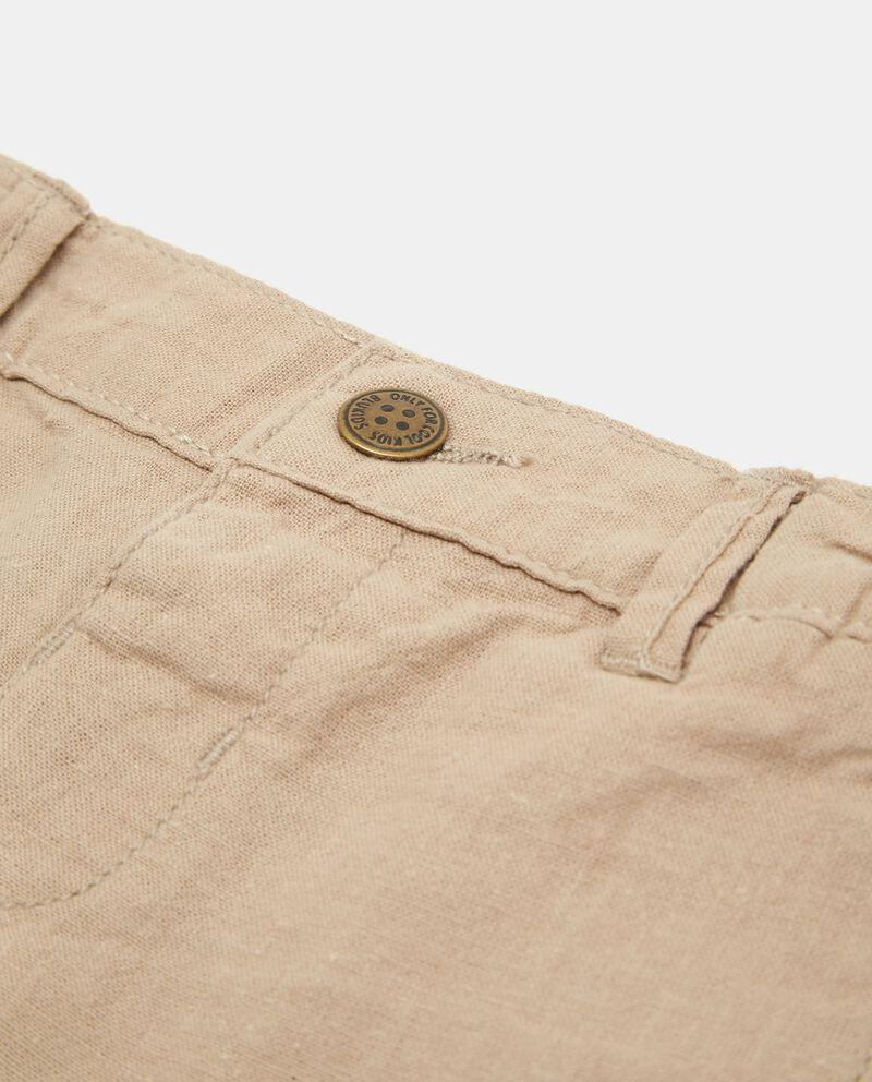 Shorts lino e cotone con due tasche