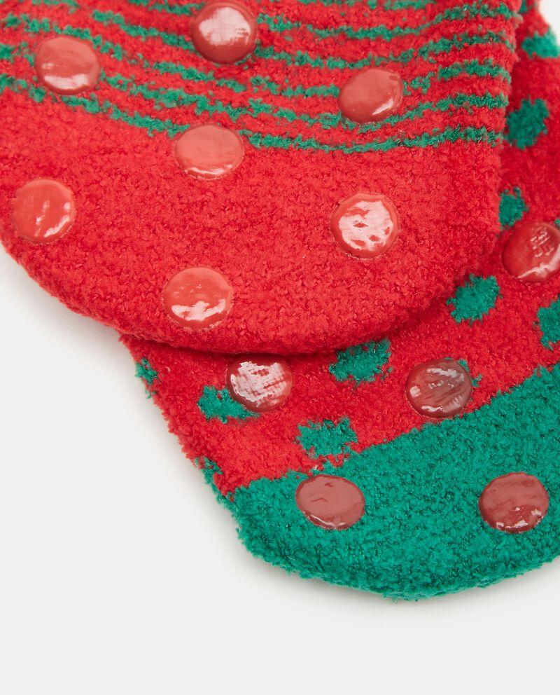 Pack con 2 calze antiscivolo stampa natalizia neonato single tile 1