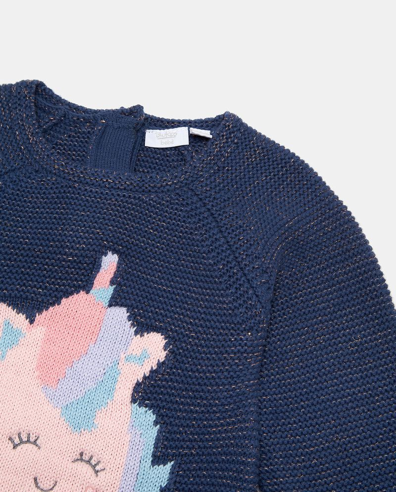 Vestito in maglia effetto lurex neonata