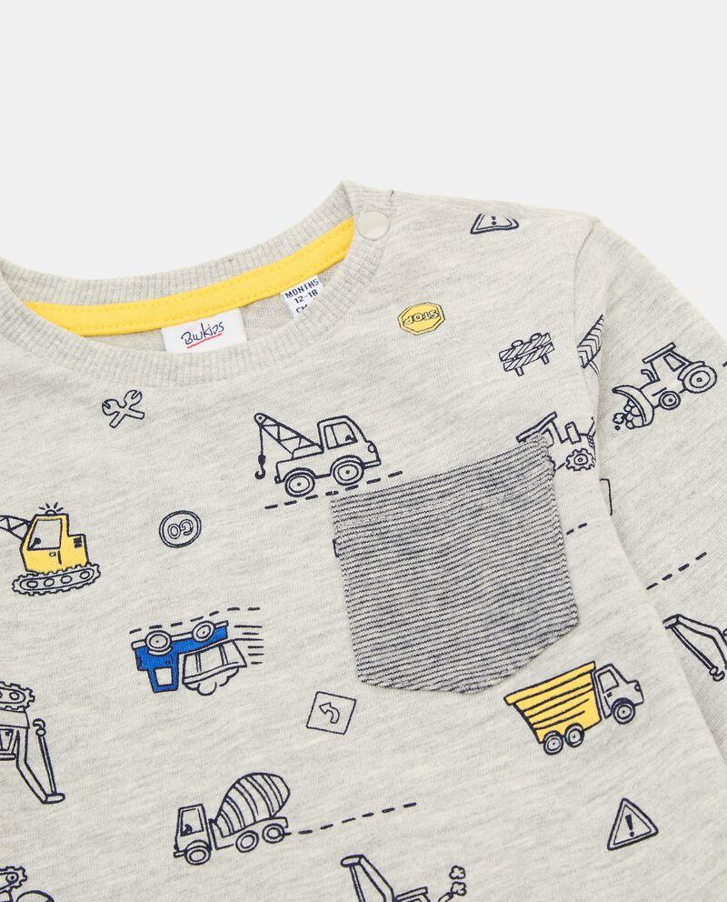 T-shirt in cotone con taschino neonato single tile 1