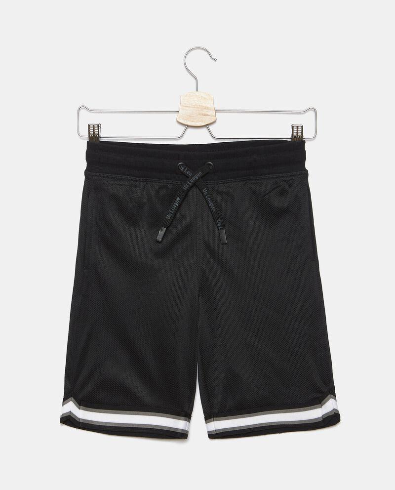 Shorts in rete con stampa ragazzo