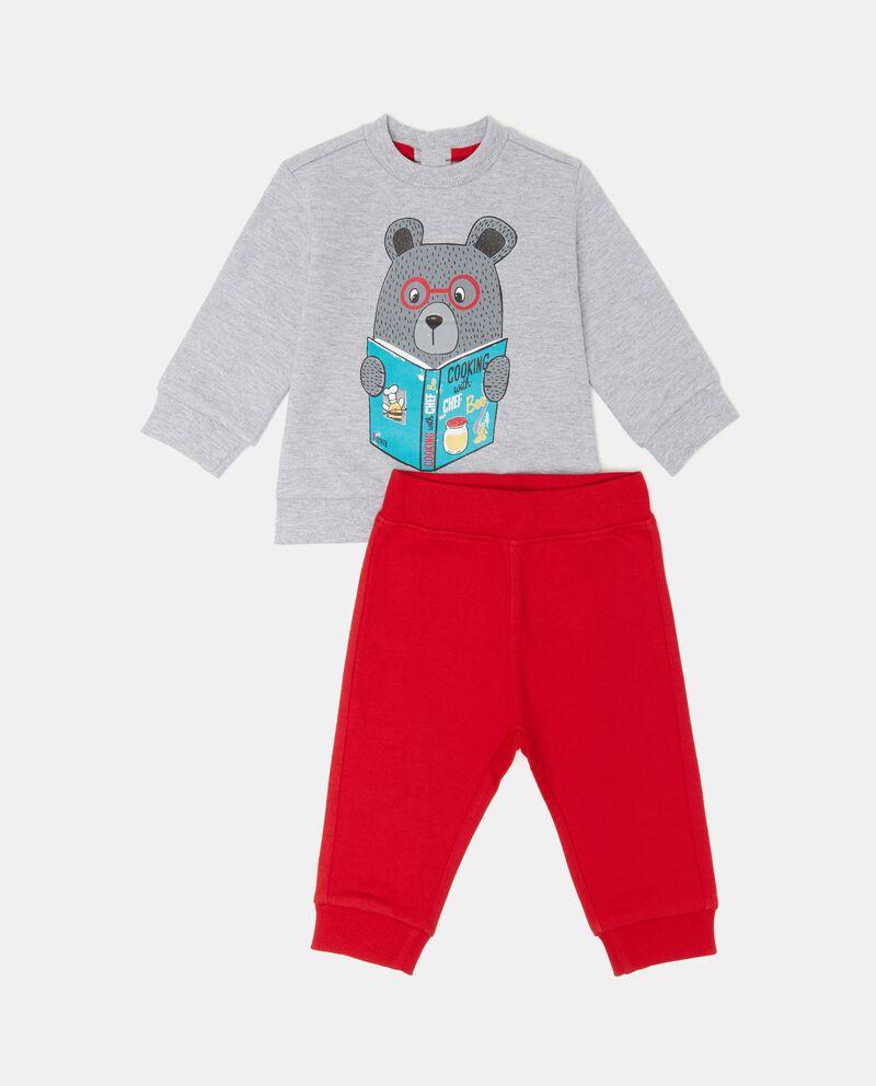 Completino con felpa stampata e pantaloni neonato