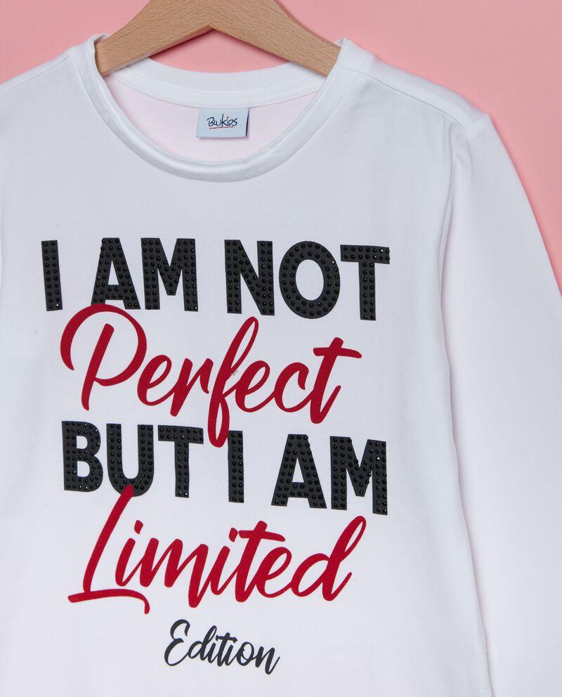 Maglietta con lettering ragazza